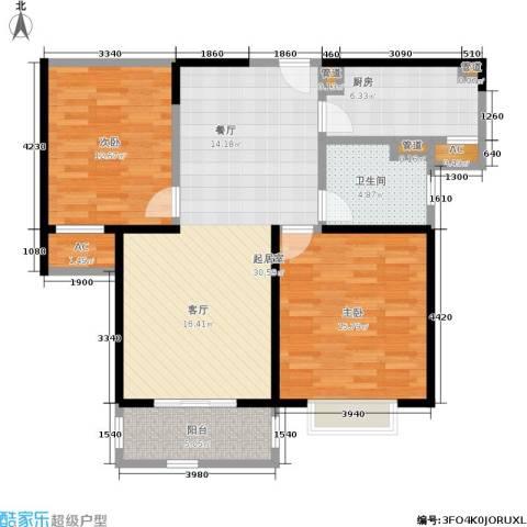 嘉乐东润舒庭2室0厅1卫1厨88.00㎡户型图