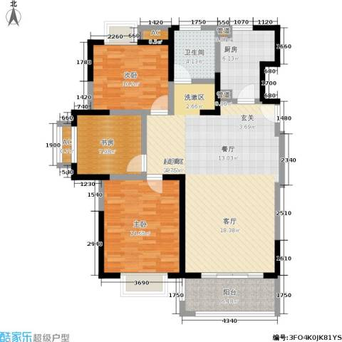 远洋7号3室0厅1卫1厨103.00㎡户型图