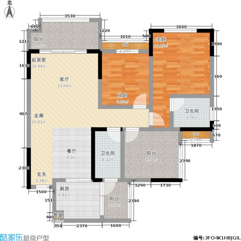 金科廊桥水乡87.48㎡二期D6栋标准层3号房/D7栋标准层5号房户型