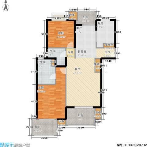 虹桥晶典苑2室0厅2卫1厨128.00㎡户型图