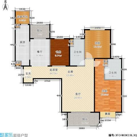 西康路9893室0厅2卫1厨132.00㎡户型图