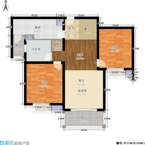 宝地东花园2室0厅1卫1厨105.00㎡户型图