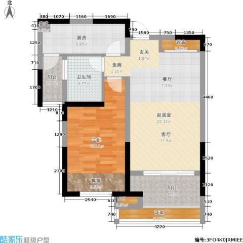 天居玲珑湾1室0厅1卫1厨65.00㎡户型图