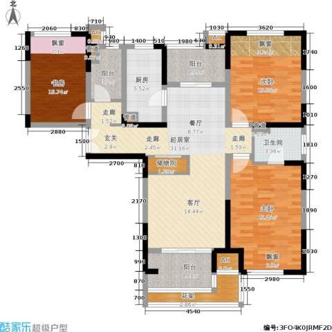 天居玲珑湾3室0厅1卫1厨119.00㎡户型图