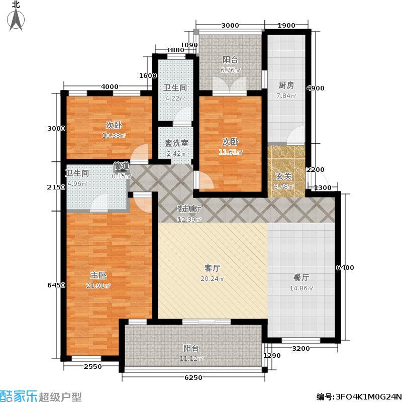 万科惠斯勒小镇140.00㎡4F户型3室2厅