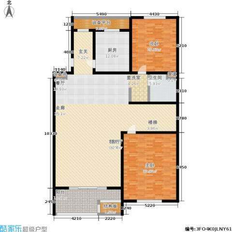 江南御府2室1厅1卫1厨200.00㎡户型图