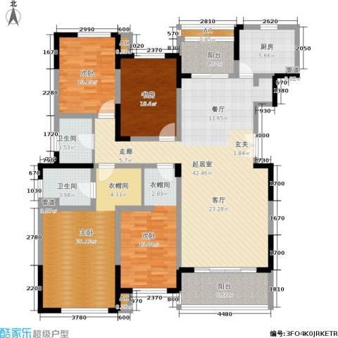 天居玲珑湾4室0厅2卫1厨146.00㎡户型图