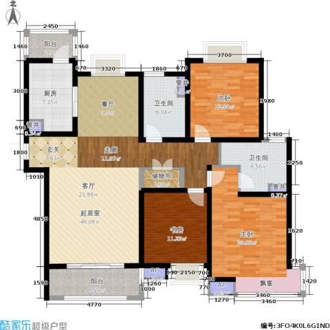 宝地东花园3室0厅2卫1厨141.00㎡户型图