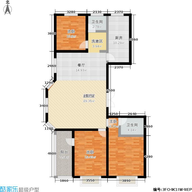 同祥城131.02㎡二期17#A5户型3室2厅