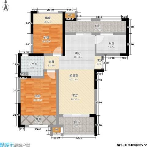 天居玲珑湾2室0厅1卫1厨92.00㎡户型图