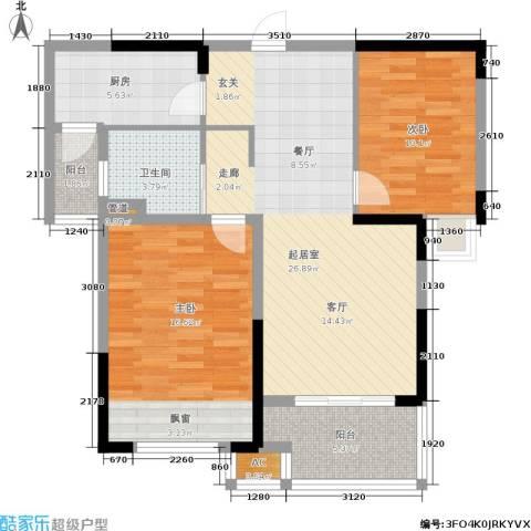 天居玲珑湾2室0厅1卫1厨85.00㎡户型图