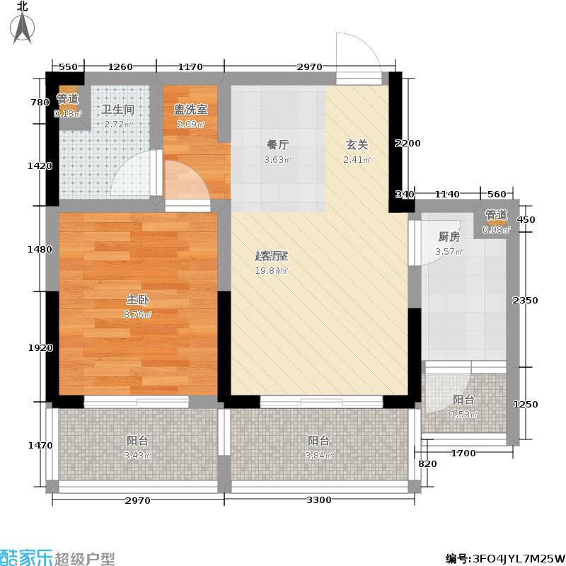 阳光100大湖第51.00㎡2-1号楼A(售完)户型