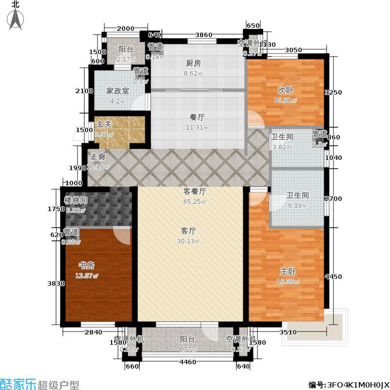 万科惠斯勒小镇160.00㎡顶层户型3室2厅
