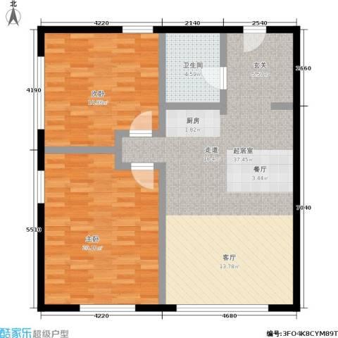 大成国际中心2室0厅1卫0厨86.33㎡户型图