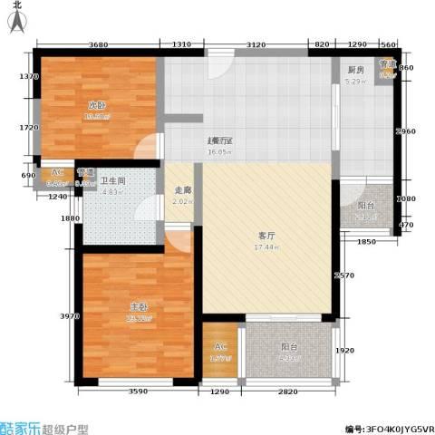 印象春城2室0厅1卫1厨114.00㎡户型图