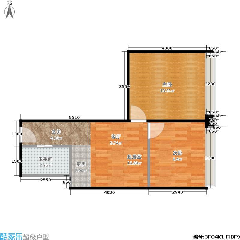 融尚中央住区59.59㎡A8户型2室1厅
