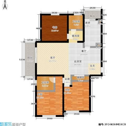 聚丰景都3室0厅2卫1厨138.00㎡户型图