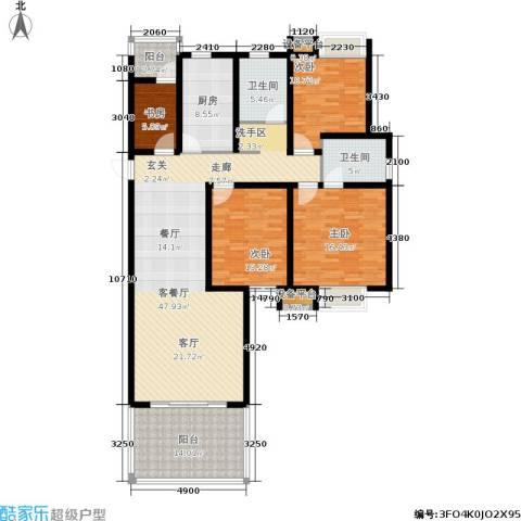 临港海滨国际花园4室1厅2卫1厨150.00㎡户型图