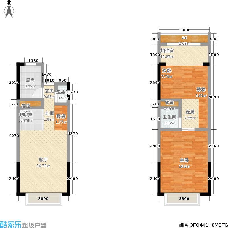 金科廊桥水乡53.66㎡五期5号楼标准层A6户型