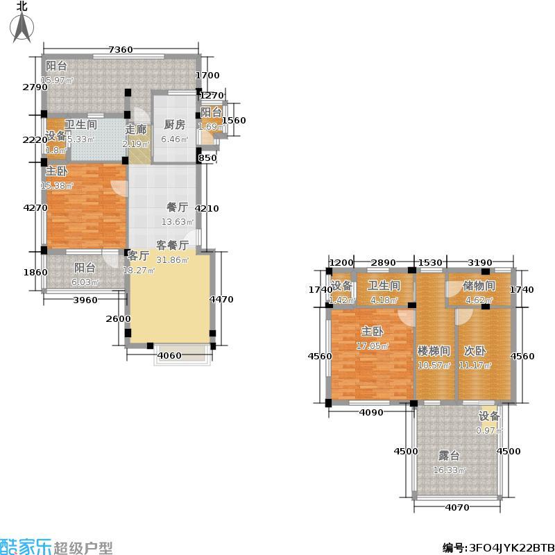 当代国际花园十五区高层131.15㎡tas5户型