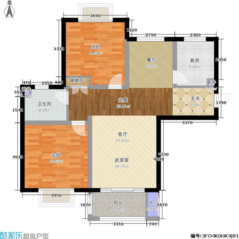 西上海名邸89.54㎡面积8954m户型