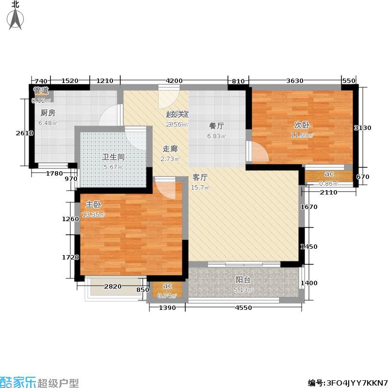 雍福龙庭86.00㎡44号、45号、46号、65号A1户型