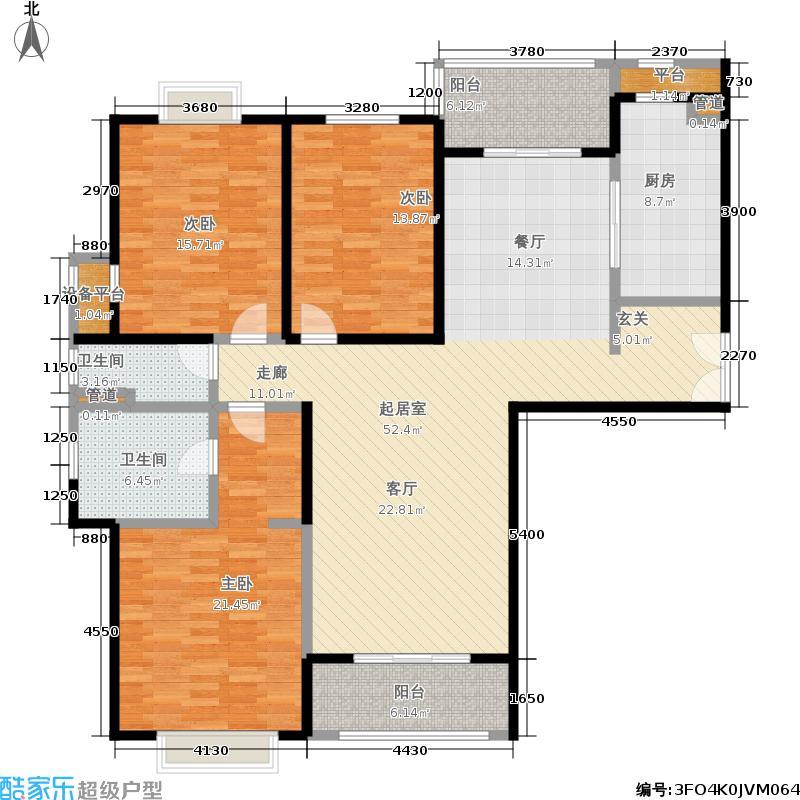 远雄徐汇园153.46㎡E户型
