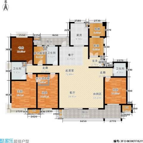 万业紫辰苑4室0厅3卫1厨230.00㎡户型图