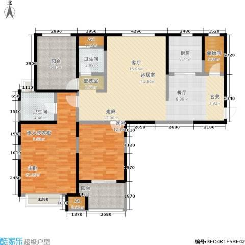 中大未来城2室0厅2卫1厨123.00㎡户型图