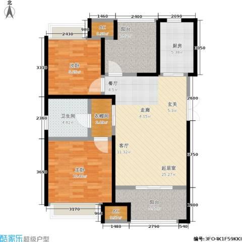 中大未来城2室0厅1卫1厨86.00㎡户型图