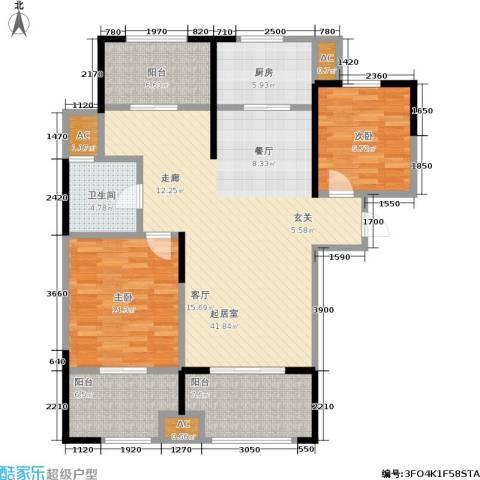 昆山颐景园2室0厅1卫1厨113.00㎡户型图