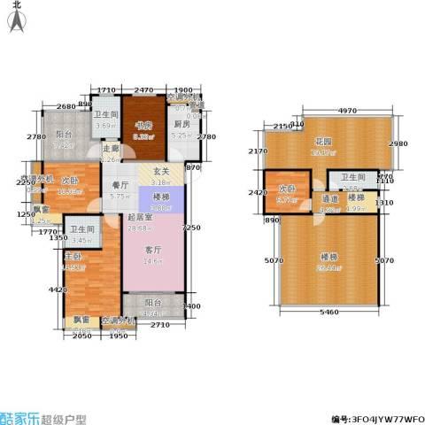 中铁诺德誉园4室0厅3卫1厨159.00㎡户型图