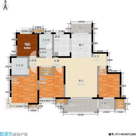 万业紫辰苑4室0厅2卫1厨139.00㎡户型图