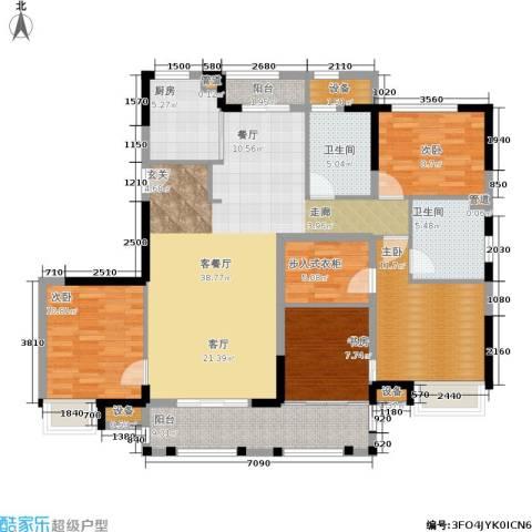金地华公馆4室1厅2卫1厨137.00㎡户型图