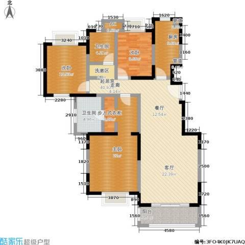 远洋7号3室0厅2卫1厨122.00㎡户型图