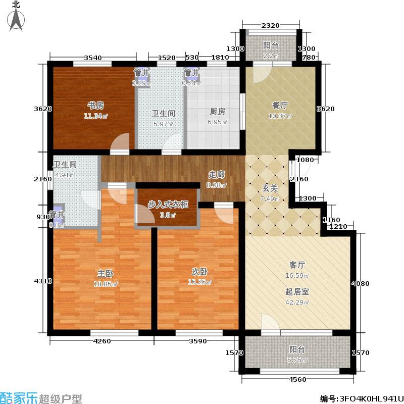 朗诗绿岛135.00㎡12#楼-A面积13500m户型