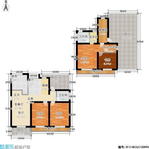 临港海滨国际花园4室1厅2卫1厨160.00㎡户型图