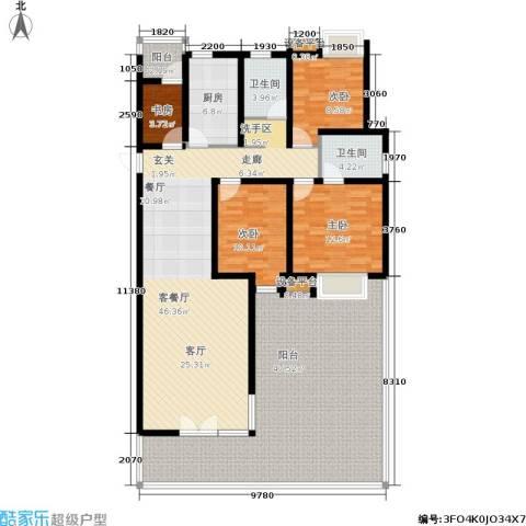 临港海滨国际花园4室1厅2卫1厨167.00㎡户型图