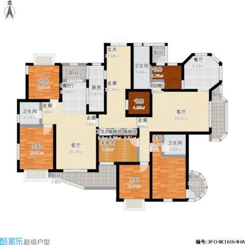 大华愉景华庭6室2厅4卫1厨264.00㎡户型图