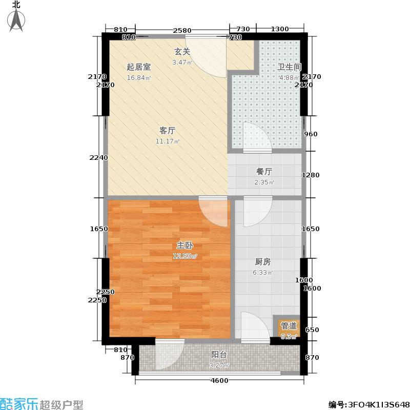 华润橡树湾49.64㎡8#J-4户型1室1厅