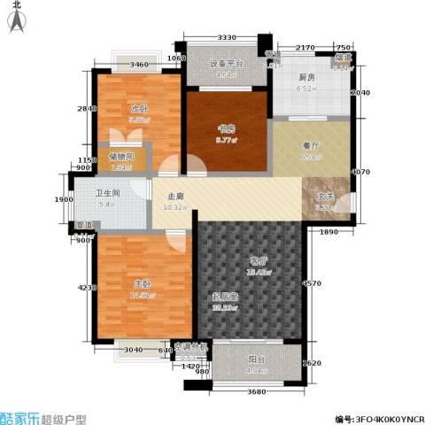 绿地百年宅3室0厅1卫1厨105.00㎡户型图