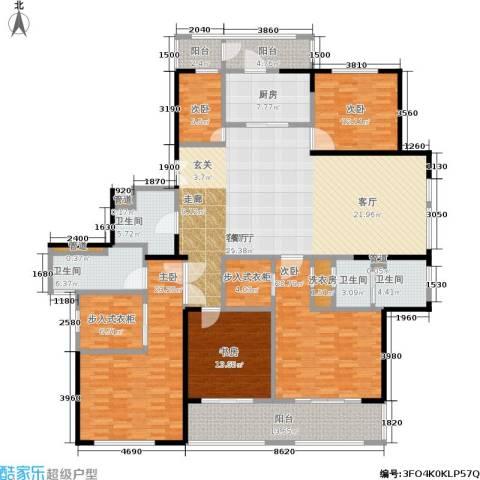 黄浦滩名苑5室1厅4卫1厨216.00㎡户型图