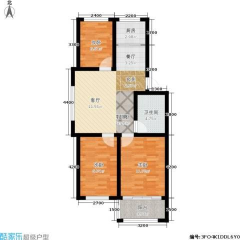 东骏阅山3室1厅1卫1厨79.00㎡户型图