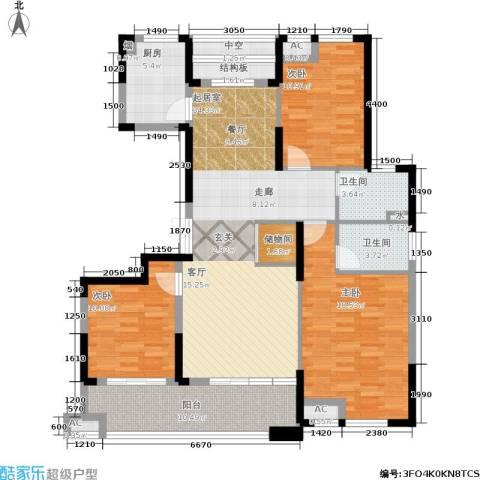 佳源名人公馆3室0厅2卫1厨136.00㎡户型图