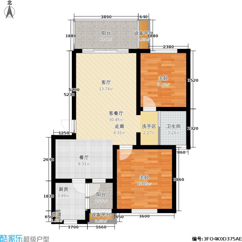 栖凤居82.93㎡二期3-5号楼标准层B户型