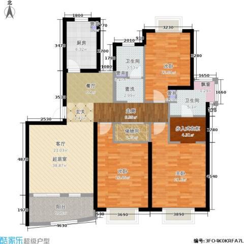 宝宸共和家园3室0厅2卫1厨130.00㎡户型图