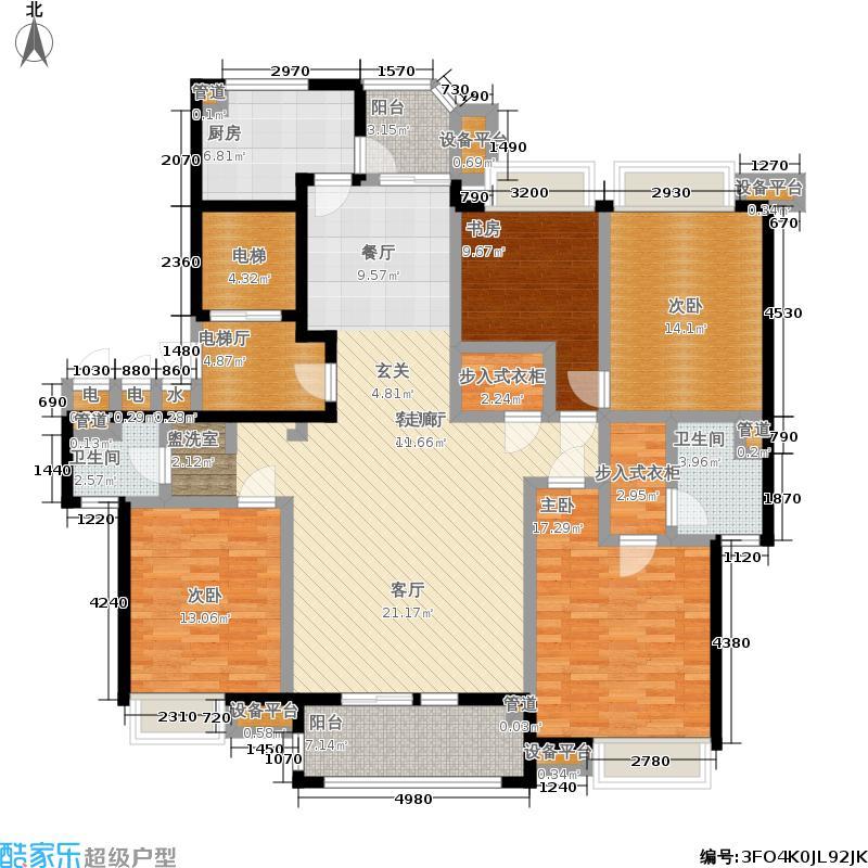 瀛通金鳌山公寓164.00㎡户型