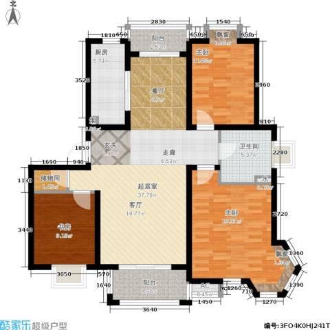 恒盛湖畔豪庭3室0厅1卫1厨112.00㎡户型图