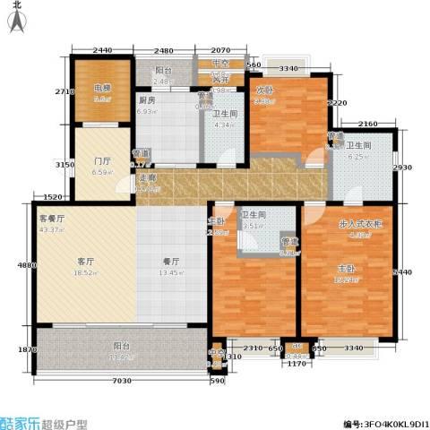 翡丽云邸3室1厅3卫1厨155.00㎡户型图