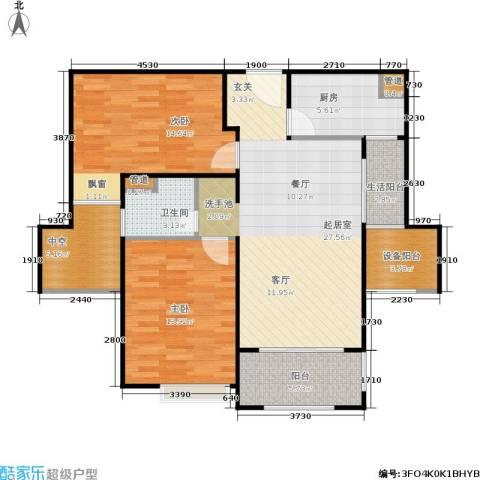 西康路9892室0厅1卫1厨90.00㎡户型图